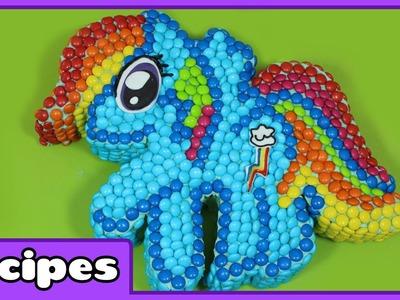 Ultimate My Little Pony Rainbow Dash m&m Cake Recipe   Birthday Cake Decorating for Beginners