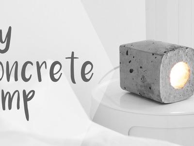 DIY Concrete Block Lamp. Rachel Aust