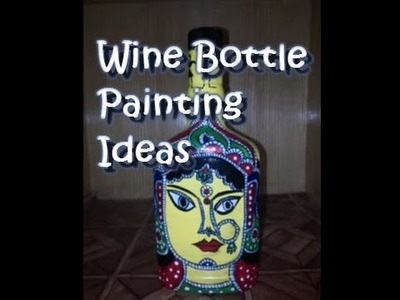DIY Crafting Ideas On Waste Wine Bottles - Just Paint Them!