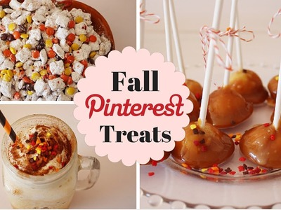 DIY Fall Pinterest Treats! & Giveaway (closed)