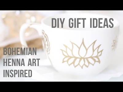 DIY Gift Ideas: Bohemian Henna Art Inspired