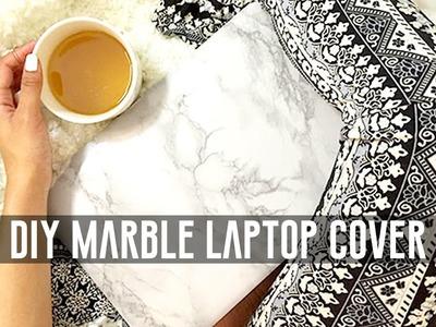 DIY Marble Laptop Cover | HEARTLICIA