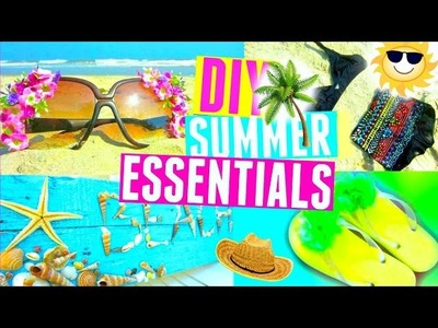DIY Summer Essentials + Room Decor | DIY Bikini, Sunglasses, Flip-flops | Summer 2015