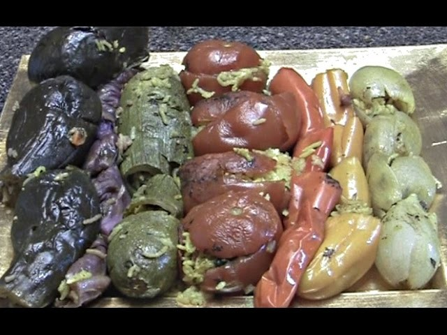 Epic Rainbow Stuffed Vegetables (dolma) - Vegetarian Meals