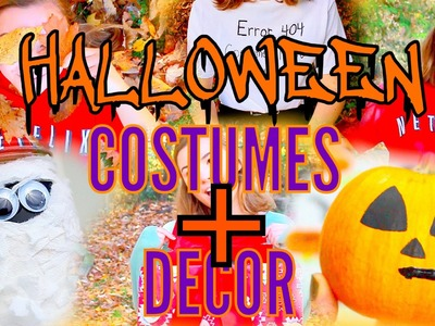 EXTREMELY Last Minute DIY Halloween Costumes & Decor Ideas!