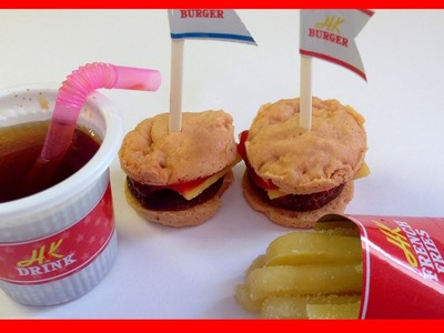 Happy Kitchen DIY Mini Hamburger and Fries Kit! - Popin' Cookin'