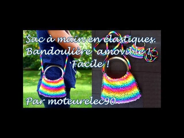 "How to Make DIY (Amigurumi) ""New handbag, elastic"" from Rainbow Loom. Tutorial 2015."