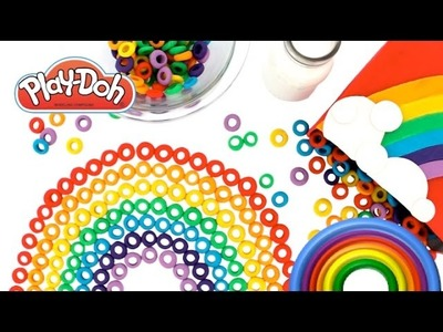 Learn Colors of the Rainbow with Play Doh Froot Loops Learning Colours