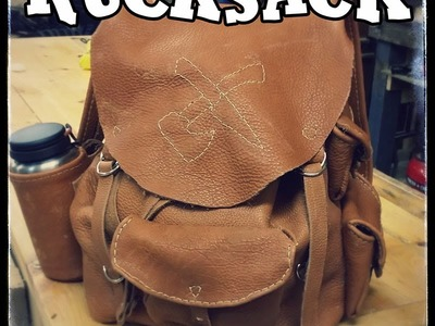 Leatherworking Bison Hide BackPack Part 4: Using a Sewing Awl