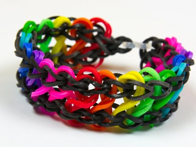 Loom Bands česky - RAINBOW CROSS BRACELET - Tutorial
