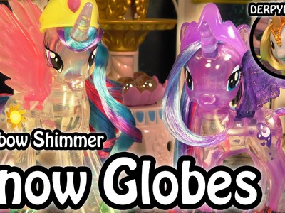 MLP Derpy-io 1: Rainbow Shimmer Princess Celestia & Luna Snow Globe My Little Pony Toy Review