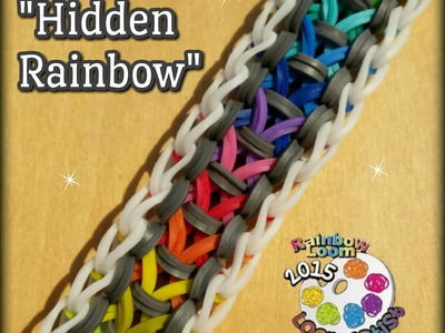 "New ""Hidden Rainbow"" Rainbow Loom Bracelet.How To"