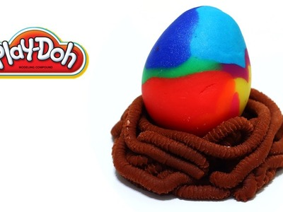 Play-Doh Giant Rainbow Easter Egg Suprise Eggs Dinosaur Egg Dragon Egg Egg Hunt Easy