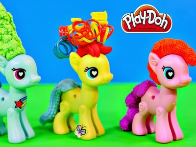 Play Doh Plus My Little Pony POP Design & Build Rainbow Dash MLP Play Dough Hair Tails