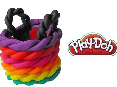 Play Doh Rainbow Basket