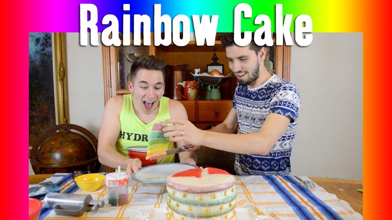 Rainbow Valentine's Day Cake