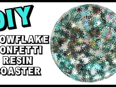 Resin Snowflake Confetti Coaster DIY ~ Another Coaster Friday Craft Klatch