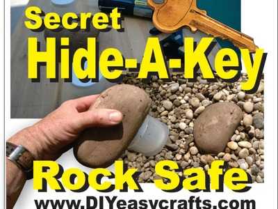 Secret Hide a Key Rock Safe Easy DIY How to Make