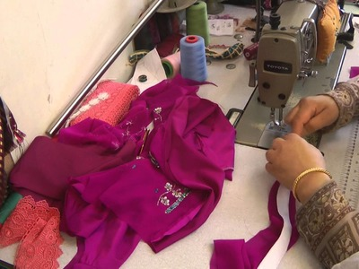 Sewing a sari blouse part 3