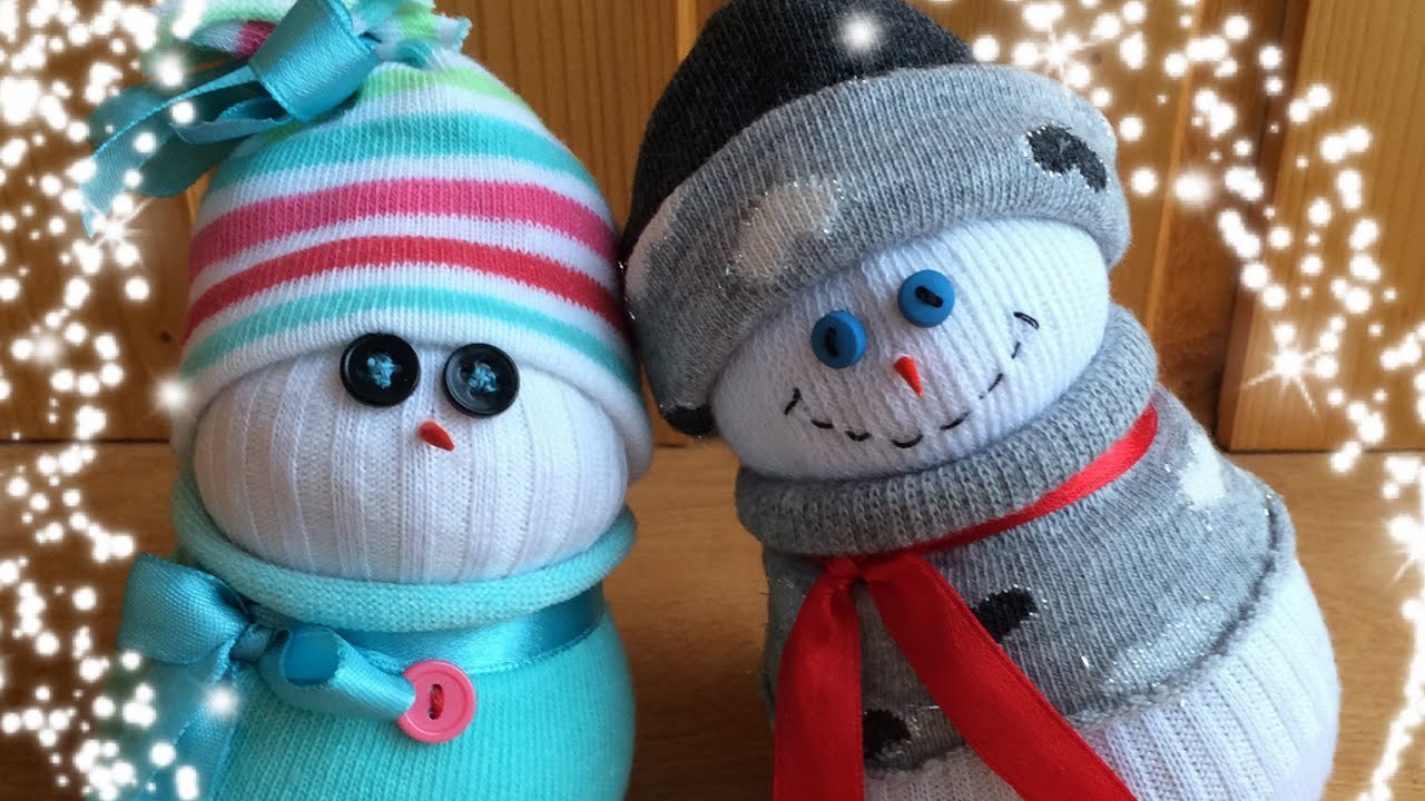 Christmas Sock Snowman Tutorial, Cute & Easy