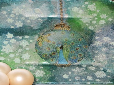 DIY Decoupage a Glass Christmas Plate holiday