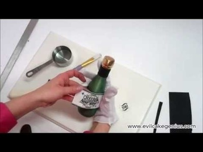 DIY Edible Champagne Bottle