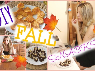 DIY Fall Snacks! Easy, Cute & Quick