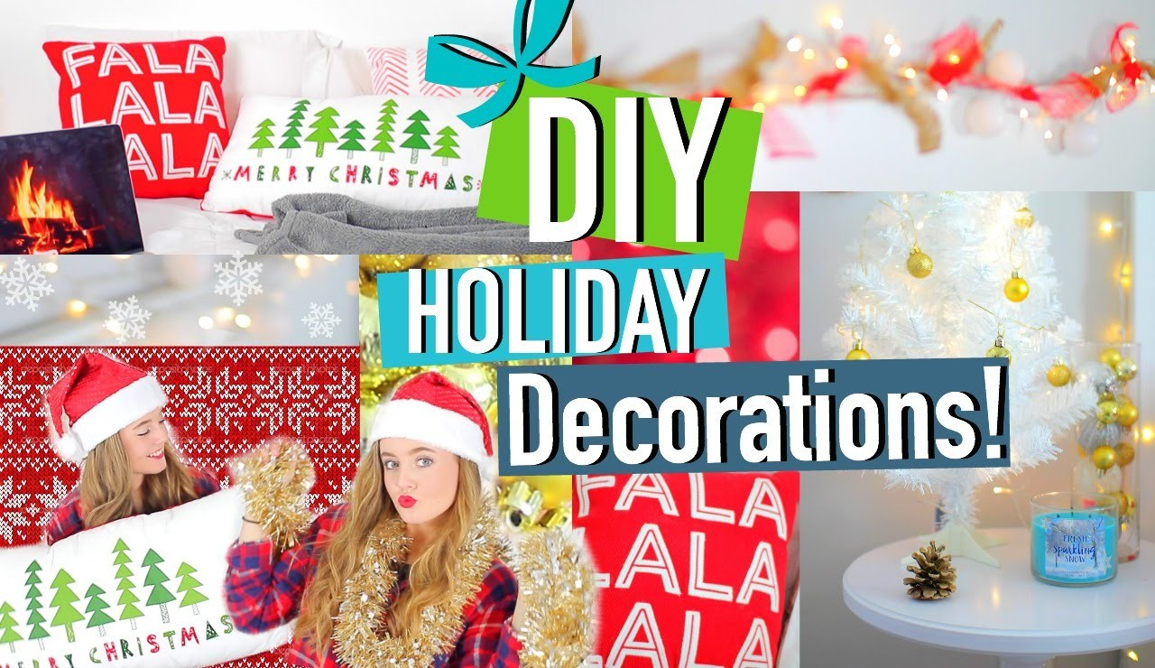 DIY Holiday Room Decorations! + Cute & Easy Tumblr Inspired Decor!