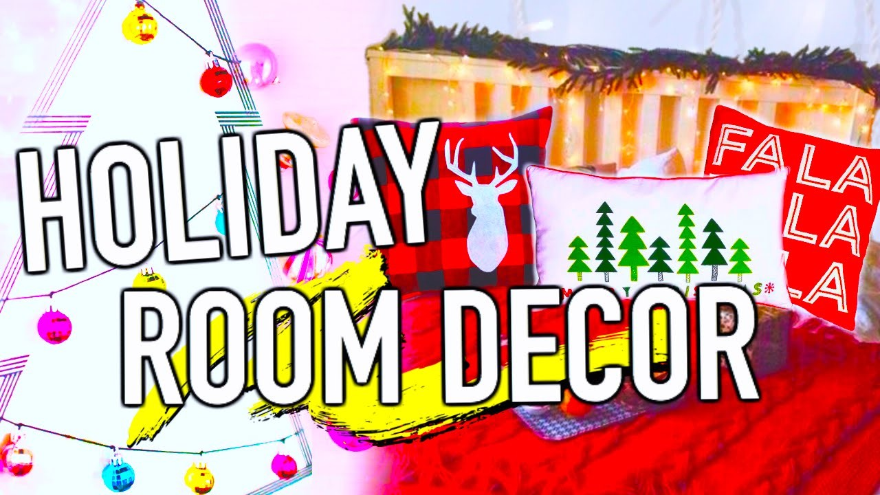 DIY Holiday Room Decorations! Easy DIY Christmas ideas!