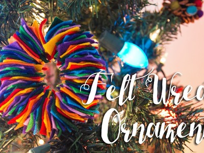 Felt Wreath Christmas Ornaments For Kids