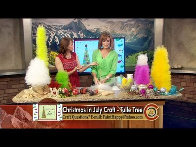 Holly Peppin Crafts - Tulle Christmas Trees