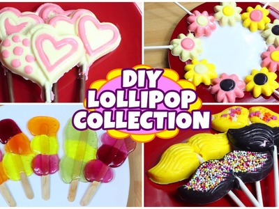 Lollipop Recipe Collection | 4 Amazing DIY Candy Treats | Quick and Easy Recipes