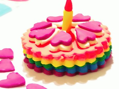 Play Doh Rainbow Cake! Playdough Video for Kids - Montaña de Pasteles Torta de Cumpleaños