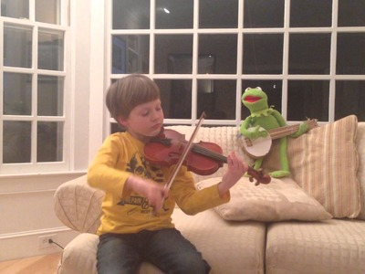 Ryder Moran - Rainbow Connection Violin with Kermit the Frog