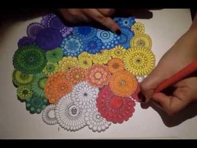 Secret Garden Coloring Book: Rainbow Flowers