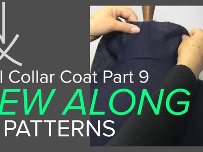 Sewing a Coat, A Sew Along. Part 9, Joining the Front to the Back