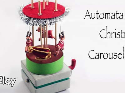 Automata Christmas Reindeer Carousel - Video collaboration with Francesca SugarArt