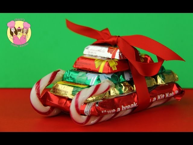 CHRISTMAS CANDY SLED - Santa Sleigh - crafty gift idea by Charli's Crafty Kitchen - how to candy