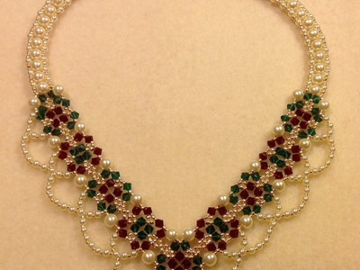 Christmas Party Necklace Tutorial