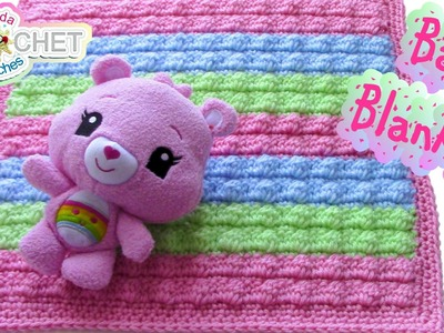 Crochet Bobble Stitch Baby Blanket Pattern