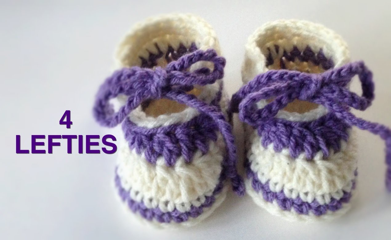 Crochet Easy Baby Slippers (4 LEFTIES)
