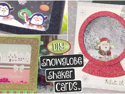 DIY CHRISTMAS CARDS. Shaker Snowglobe Card for Holidays & Winter How To