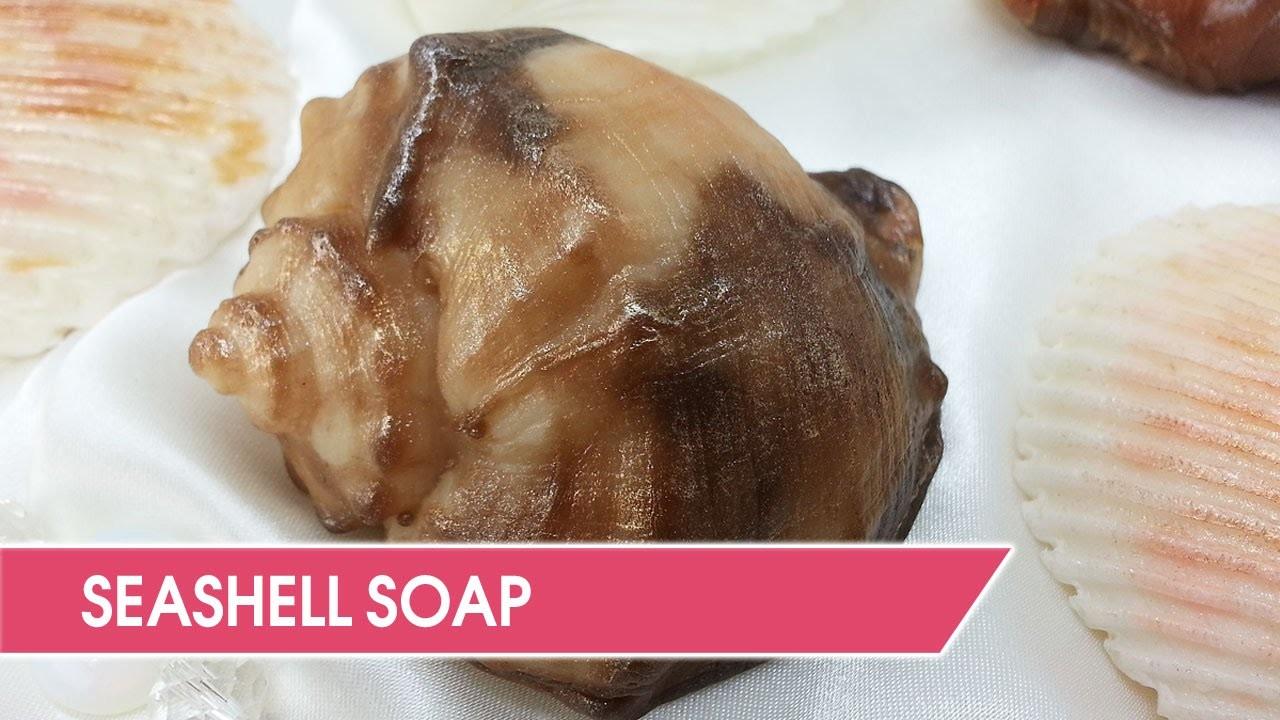 DIY: Making seashell soap at home. Custom silicone mold.