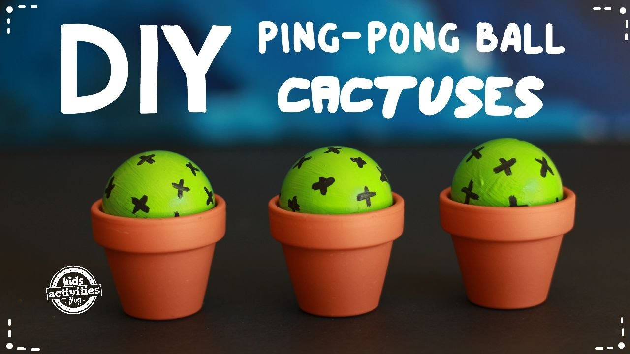 DIY Ping Pong Ball Cactuses