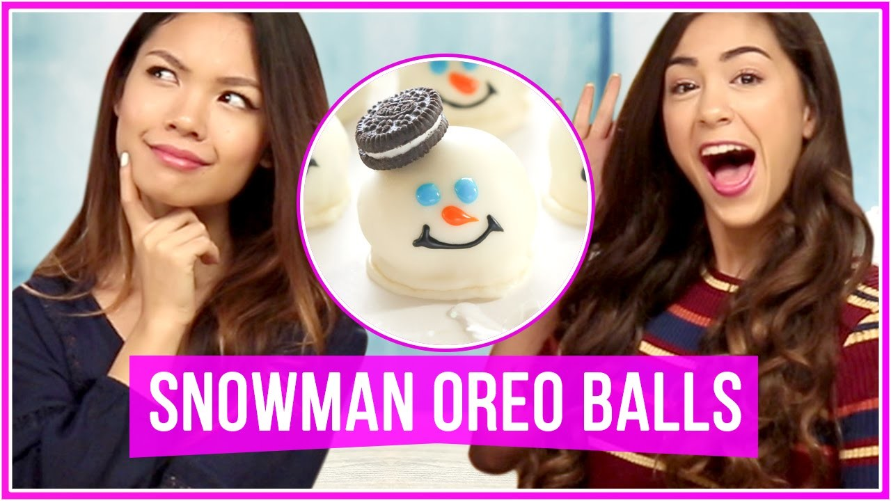 DIY Snowman Oreo Balls! With MissTiffanyMa and ClayCupcakes4