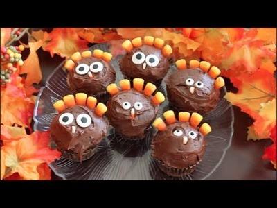DIY: Thanksgiving Turkey Cupcakes