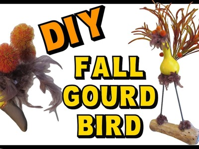 Fall Gourd Bird DIY ~ Craft Klatch