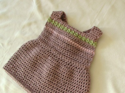 How to crochet a pretty pinafore dress - any size (baby to adult)