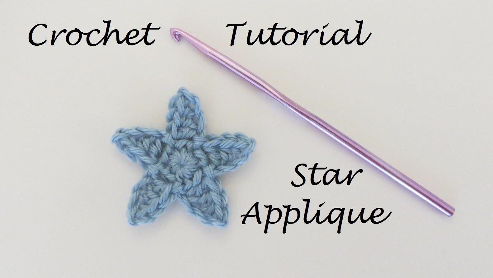 How to Crochet a Star Applique