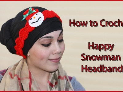How to Crochet Happy Snowman Headband